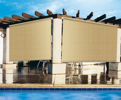 coolaroo 90 uv exterior roller shade 10 ft x 6 ft 474812
