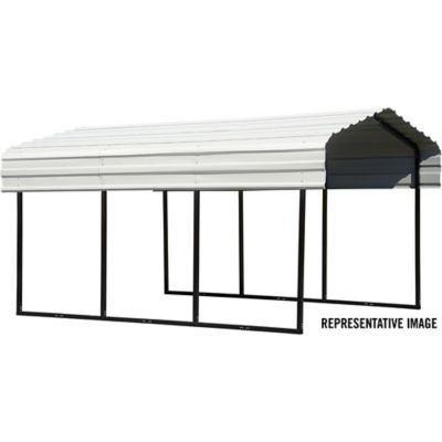 Arrow Steel Carport 10 X 15 Ft Black Eggshell Cph101507 At