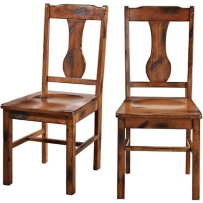 distressed dining chairs blissful chair covers and sashes walker edison dark oak wood set of 2 at