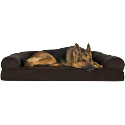 soft sofa dog bed sandhill outdoor sectional set furhaven faux fleece chenille woven orthopedic pet