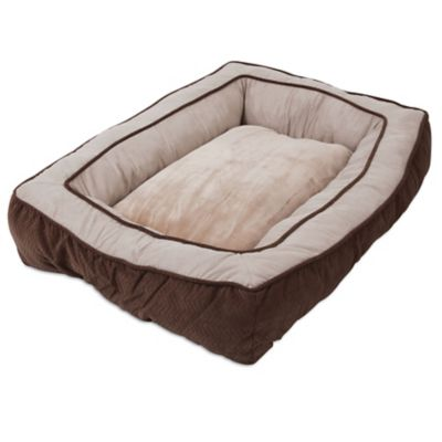precision pet products bumper floor pillow bed 27 in x 36 in