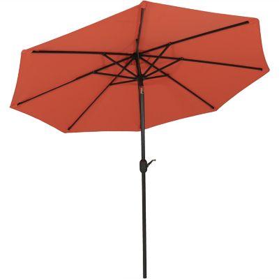 sunnydaze decor 9 ft outdoor patio umbrella with auto tilt and crank 1 5 x 92 5 x 103 in jlp 089