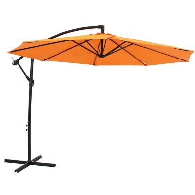 sunnydaze decor offset outdoor patio umbrella with crank steel waterproof polyester rul 014