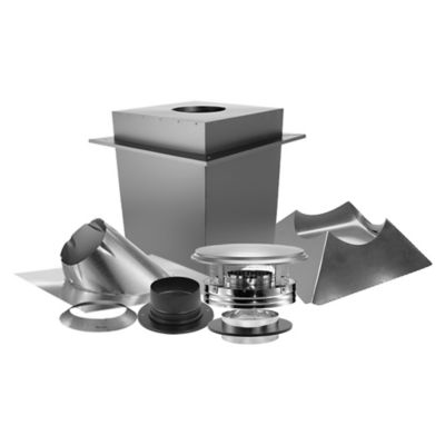duravent duraplus 6 in triple wall pipe through the roof stove chimney kit 6dp kbsc