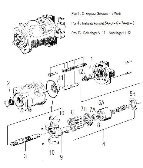Fendt Fendt Hydraulikpumpe Repair Kit G930940010011