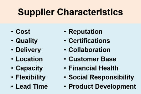 Things to consider when selecting suppliers