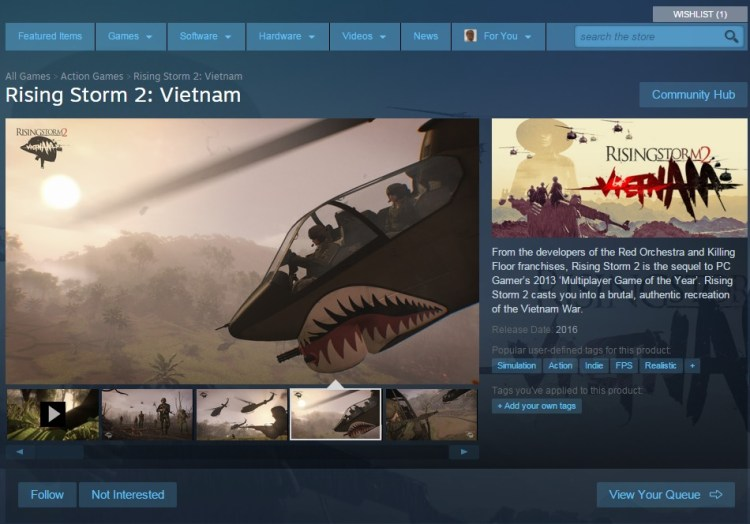 Rising Storm 2:Vietnam Steam Store Page