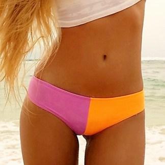 Rose and Orange Brazilian Cut Bikini