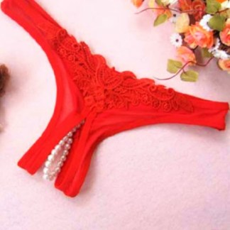 Pearlstring Pantie Red