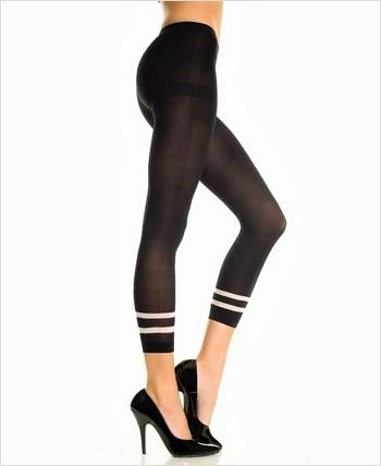 Double Stripe Opaque Leggings
