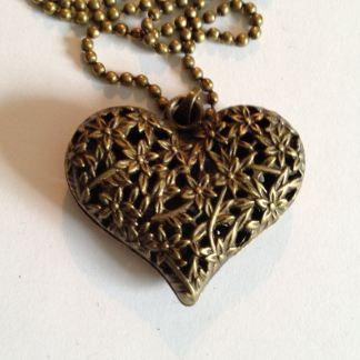 Bronze Heart Halssmycke