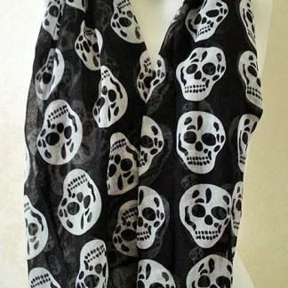 Skull Scarf Black
