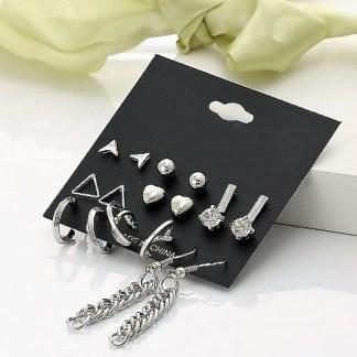9 pcs Complete Earrings Set