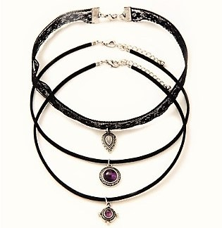 3Pcs Set All-match Chokers Necklaces & G-String