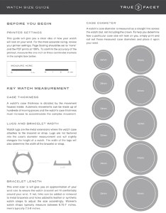 Watch size guide preview image also what are the most common case diameters loupe rh truefacet