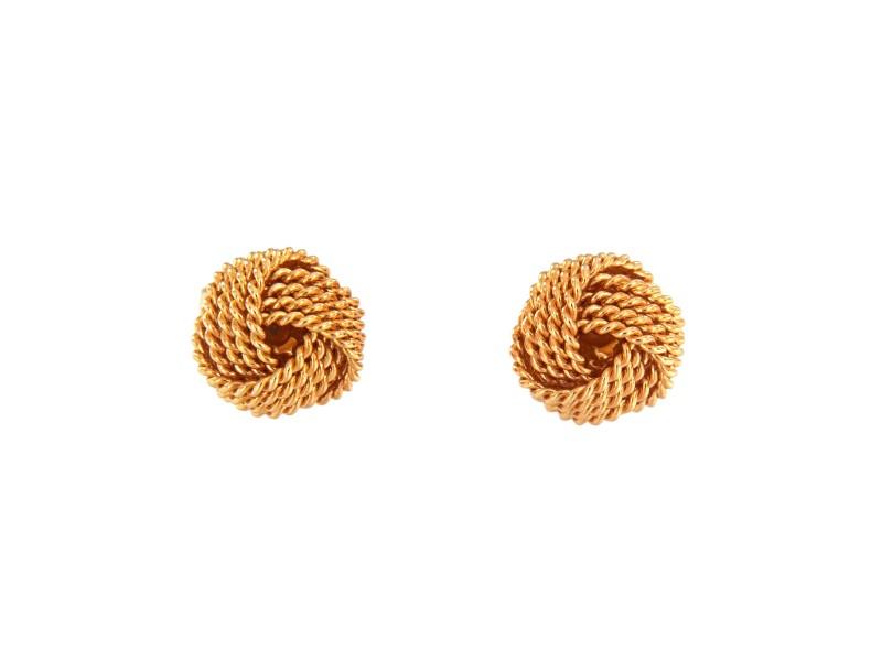 Tiffany & Co. 18K Rose Gold Twist Knot Earrings