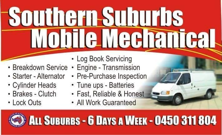 Southern Suburbs Mobile Mechanical Mechanic  TrueLocal