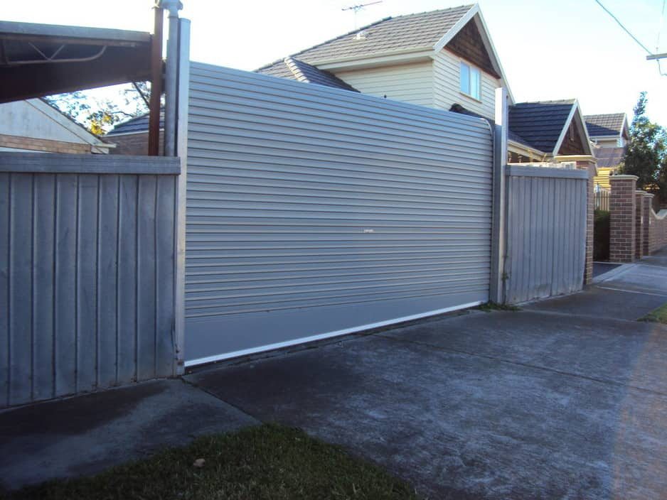 colorbond automatic roller door in drive way 1 year ago