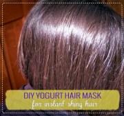 yogurt hair mask instant shiny