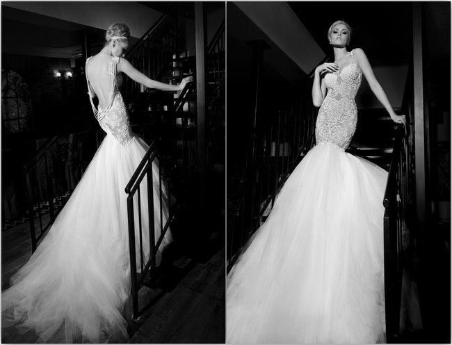 Dramatic-Back Wedding Dress Ideas