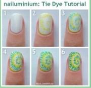diy marble tie dye nails super