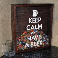 Keep Calm And Have A Beer - Bottle cap Holder | Trusper