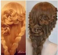 Indie rose hair braid