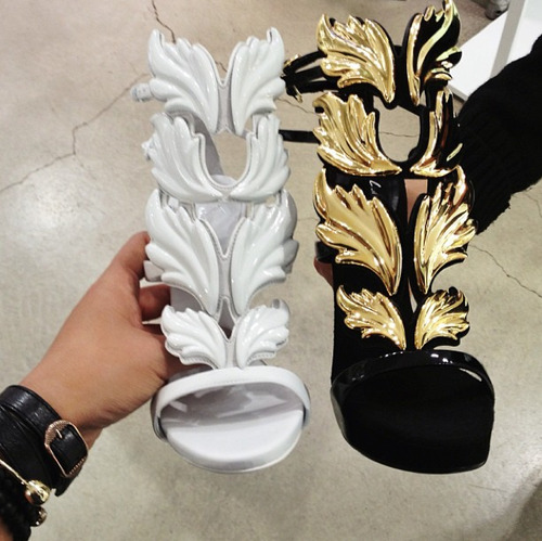 a6369c712f73 ... the Cruel Summer sandals as well. He chose to go with a gold and black  design and instead of a stiletto heel
