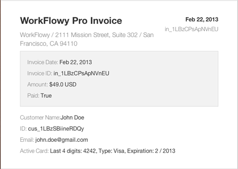 You Want An Invoice Well Give You An Invoice WorkFlowy - Invoice 4 you