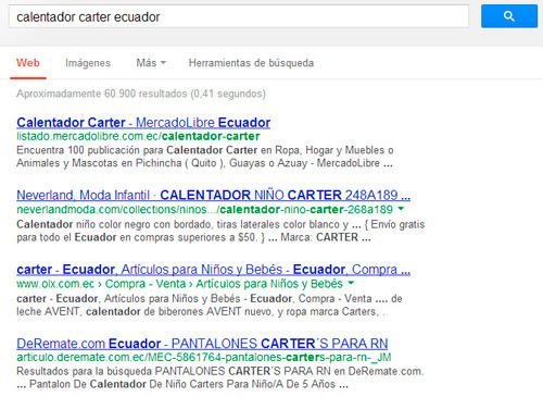 resultados de búsqueda para productos que se vende online en el Ecuador