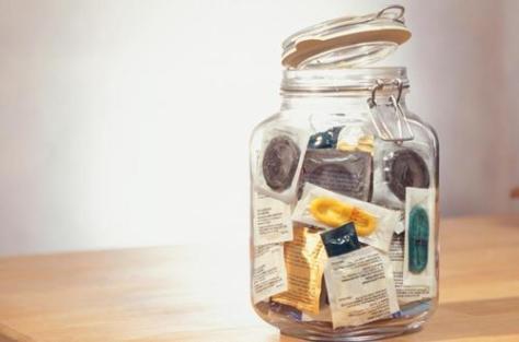 condoms in jar first date