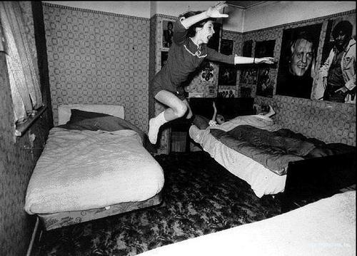 A poltergeist throws a girl off her bed