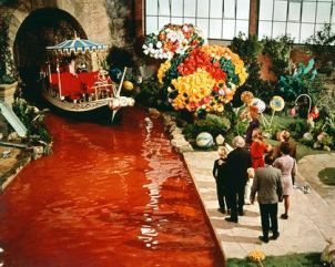 Willy Wonka's chocolate river