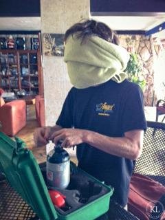 setting up oxygen kit blindfolded!