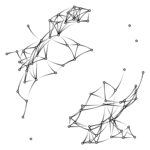 Beautiful network diagrams with ggplot2