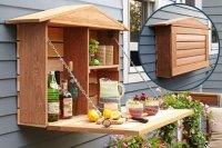 Wall Banger Liquor Cabinets - Home Bar Has Fold...