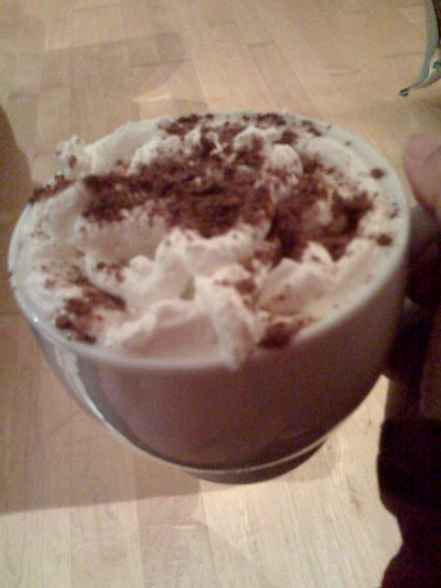 Coffee with Fresh Whip & Scharffenberger Cocoa Powder