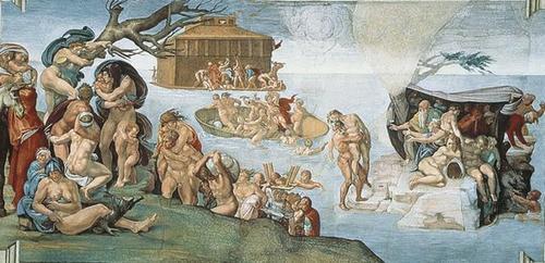 El Diluvio Universal de Miguel Ángel en la Capilla Sixtina
