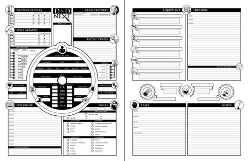 Dungeons & Donuts — Philosophies on Character Sheets