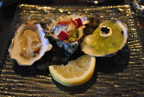 Loch Harport oysters, served three ways