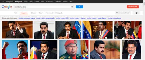 Nicolás Maduro: resultados de búsqueda en Google imagénes