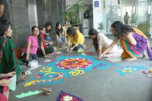 Goibibo Office at Gurgaon-Diwali celebration