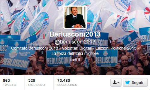 ex primer ministro Silvio Berlusconi en Twitter