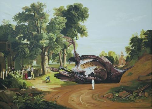 Caídos del Cielo  Dibujo sobre papel  32 x 43 cm  2012