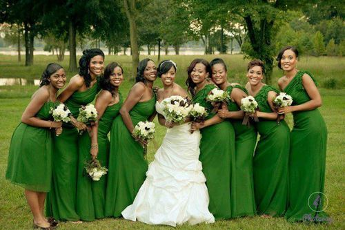 Nigerian Wedding Bridesmaids Color Story: What