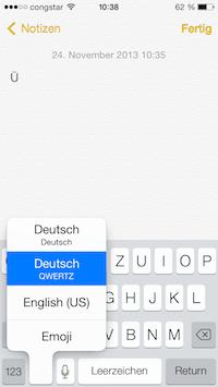 iOS Tastaturen