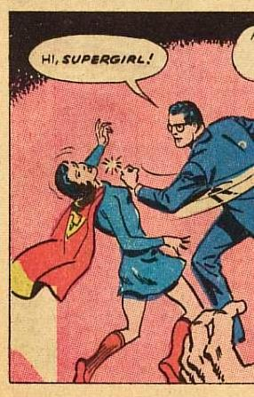 Clark Kent meets Supergirl the old fashioned way
