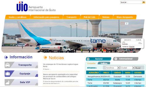 nuevo aeropuerto Quito Mariscal Sucre