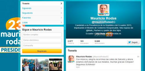 Mauricio Rodas utilizar Twitter para su camapaña electoral