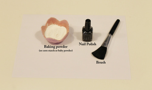 You Will Need A Powder Baby Corn Starch Or Baking Nail Polish And Brush This Can Just Be Regular That Has Been Freshly